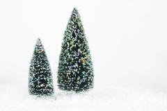 Duas árvores Imagens de Stock Royalty Free