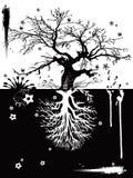 Duas árvores ilustração stock
