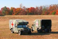 Duas ambulâncias Foto de Stock Royalty Free
