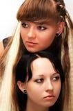 Duas amigas Fotos de Stock Royalty Free