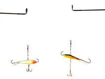 Duas atrações da pesca do gelo do equilíbrio Imagem de Stock Royalty Free