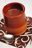 Pudim de chocolate Imagens de Stock Royalty Free