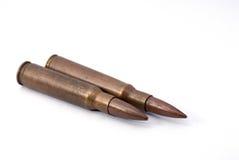 Duas balas do rifle fotos de stock