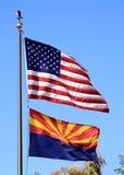 Duas bandeiras Foto de Stock Royalty Free