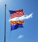 Duas bandeiras Fotografia de Stock Royalty Free