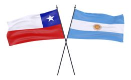 Duas bandeiras cruzadas fotografia de stock royalty free