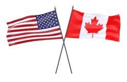 Duas bandeiras cruzadas ilustração stock