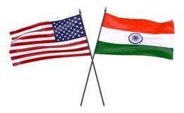 Duas bandeiras cruzadas ilustração do vetor