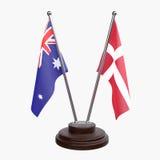 Duas bandeiras da tabela ilustração do vetor