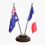 Duas bandeiras da tabela ilustração royalty free