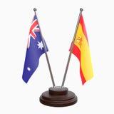 Duas bandeiras da tabela ilustração stock