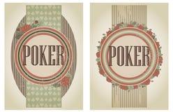 Duas bandeiras do pôquer do casino do vintage Imagens de Stock Royalty Free
