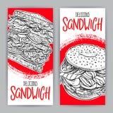 Duas bandeiras dos sanduíches ilustração stock
