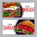 Duas bandeiras dos sanduíches ilustração royalty free