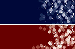 Duas bandeiras sparkling Fotografia de Stock