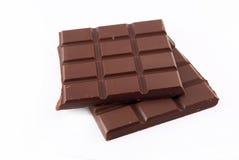 duas barras de chocolate imagens de stock