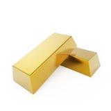 Duas barras de ouro Fotografia de Stock Royalty Free