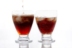 Duas bebidas foto de stock