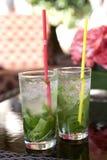 Duas bebidas de Mojito Imagens de Stock