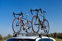Duas bicicletas da estrada imagem de stock royalty free