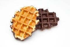 Duas bolachas do chocolate Imagem de Stock