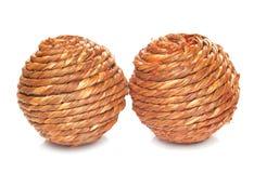 Duas bolas de vime Imagem de Stock Royalty Free
