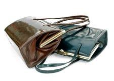 Duas bolsas de couro Imagem de Stock Royalty Free