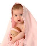 Duas bonecas do bebê imagens de stock