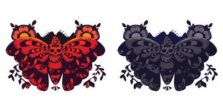 Duas borboletas do vetor Fotos de Stock Royalty Free
