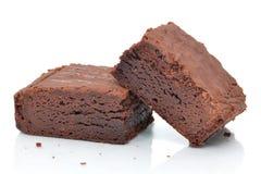 Duas brownies Imagens de Stock