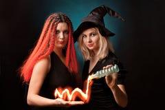 Duas bruxas Foto de Stock Royalty Free