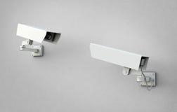Duas câmaras de segurança ilustração royalty free