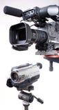 Duas câmeras Fotos de Stock Royalty Free