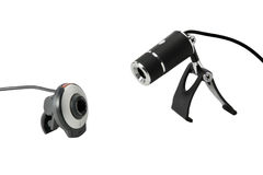 Duas câmeras de Web Imagem de Stock Royalty Free