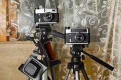 Duas câmeras retros da foto Imagem de Stock Royalty Free