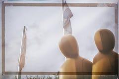 Duas cabeças das esculturas Fotografia de Stock Royalty Free