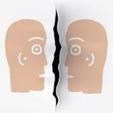 Duas cabeças separadas ilustração stock