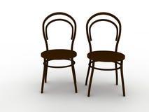 Duas cadeiras ilustração stock