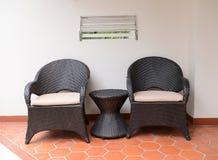 Duas cadeiras fotografia de stock