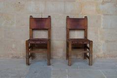 Duas cadeiras antigas Foto de Stock Royalty Free