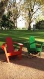 Duas cadeiras de jardim Foto de Stock Royalty Free