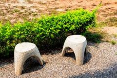 Duas cadeiras de mármore Imagens de Stock