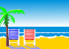 Duas cadeiras de praia Imagens de Stock