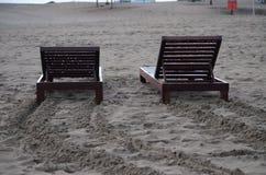 Duas cadeiras de praia Imagem de Stock Royalty Free