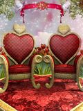 Duas cadeiras douradas Fotos de Stock Royalty Free