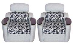 Duas cadeiras modernas fáceis Foto de Stock Royalty Free