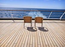 Duas cadeiras na plataforma Imagens de Stock Royalty Free