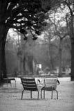 Duas cadeiras no jardim de Luxembourg Fotos de Stock