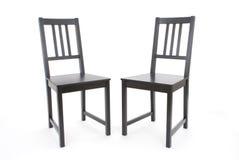 Duas cadeiras pretas Fotografia de Stock Royalty Free