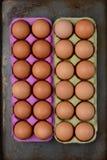 Duas caixas de ovos de Brown Foto de Stock Royalty Free